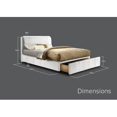 Home & Haus Upholstered Storage Bed Frame