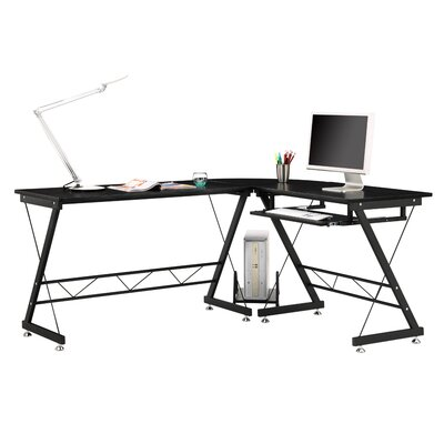 Home & Haus Prima Desk with Keyboard Tray
