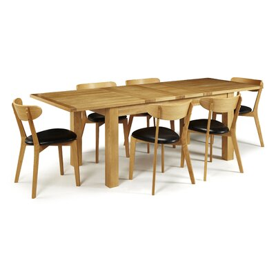 Home & Haus Mykonos Extendable Dining Table and 6 Chairs