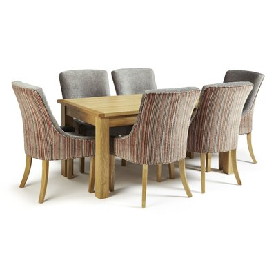 Home & Haus Mykonos Dining Table and 6 Chairs