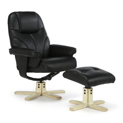 Home & Haus Coche Recliner and Footstool