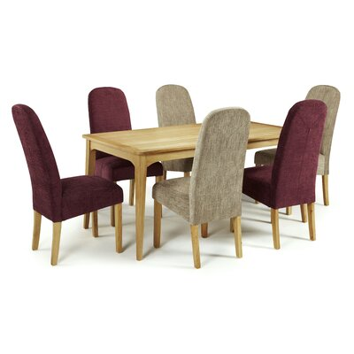 Home & Haus Bodallin Dining Table and 6 Chairs