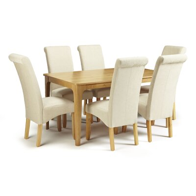 Home & Haus Bornholm Dining Table and 6 Chairs