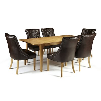 Home & Haus Bornholm Extendable Dining Table and 6 Chairs