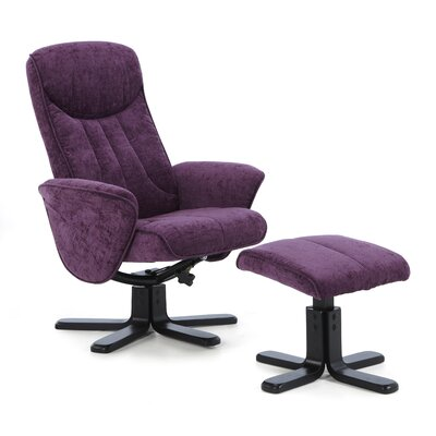 Home & Haus Linwood Recliner and Footstool