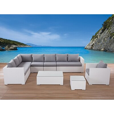 Home & Haus 8 Seater Sectional Sofa Set with Cushions
