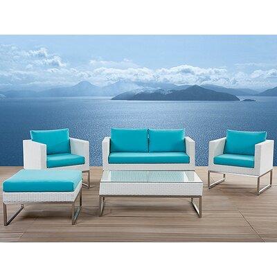 Home & Haus Crema 5 Seater Sofa Set