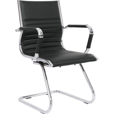 Home & Haus Kefalonia Mid-Back Leather Desk Chair
