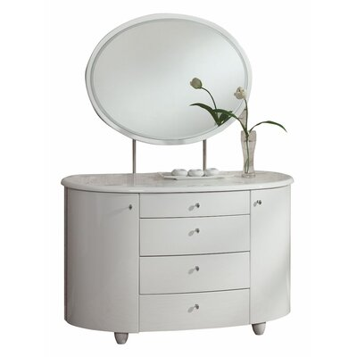 Home & Haus Aztec 4 Drawer Dressing Table with Mirror