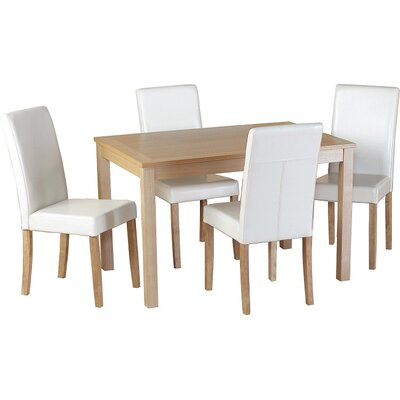 Home & Haus Ivana Dining Table and 4 Chairs