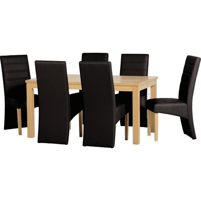 Home & Haus Belmont Dining Table and 6 Chairs