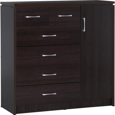 Home & Haus 1 Door 6 Drawer Combi Chest