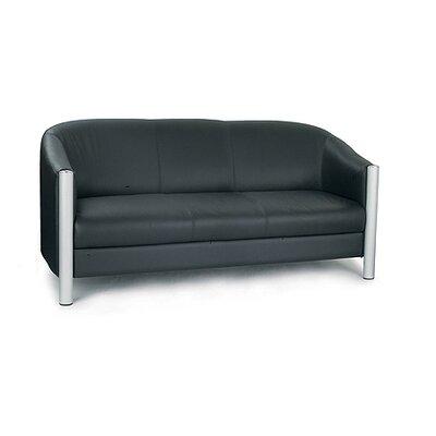 Home & Haus Reception Genuine Leather 3 Seater Sofa