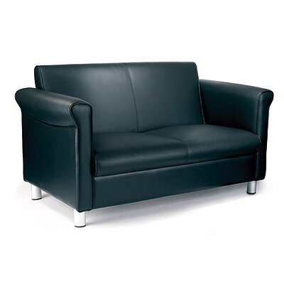 Home & Haus Reception Genuine Leather 2 Seater Sofa