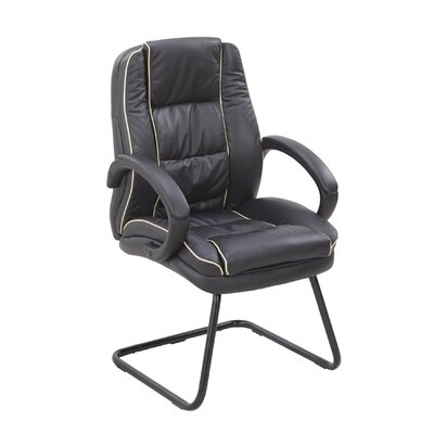 Home & Haus Medium Mid-Back Visitor Chair with Contrasting Piping