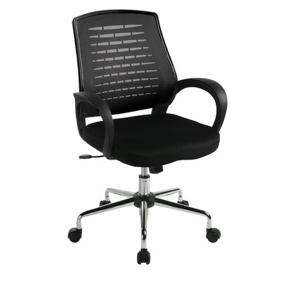 Home & Haus Carousel Operator Mid-Back Mesh Executive Chair with Adjustable Arm