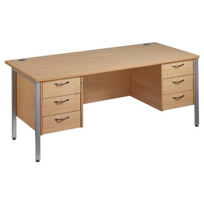 Home & Haus Maestro 25 Computer Desk with Cable Management