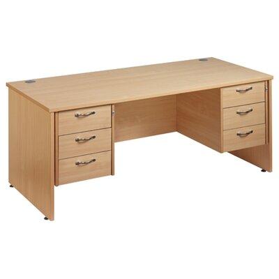 Home & Haus Maestro 25 Writing Desk with Cable Management