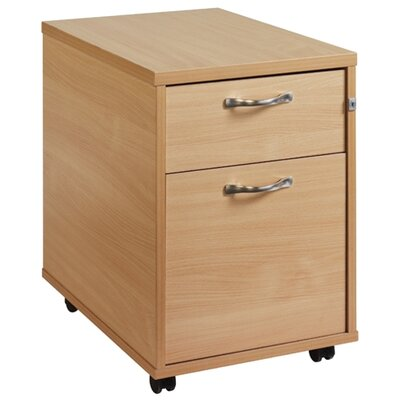 Home & Haus Maestro 2-Drawer Mobile Vertical Filing Cabinet
