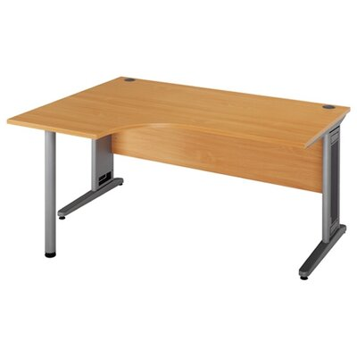Home & Haus Largo Desk Shell with Cable Management