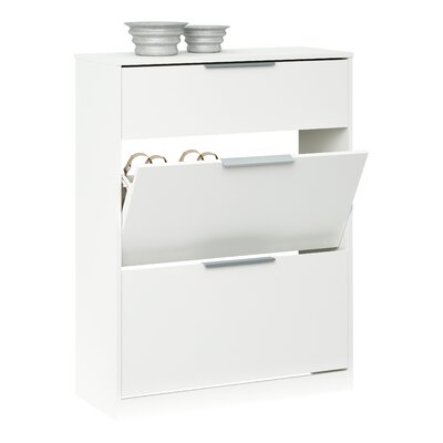 Home & Haus Shoe Cabinet with Key Drawer