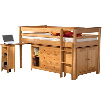 Home & Haus Mid Sleeper Bed with Storage