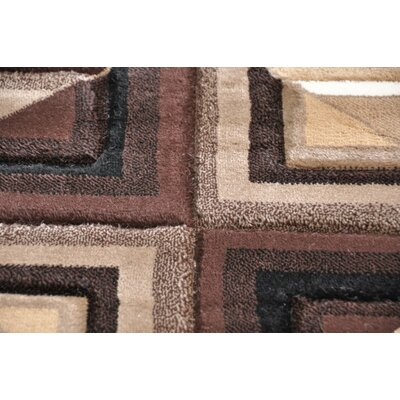 Home & Haus Spinal Brown Area Rug