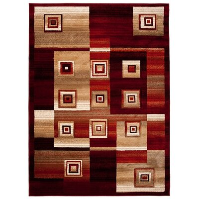 Home & Haus Spinal Red Area Rug