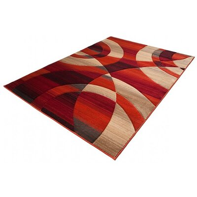 Home & Haus Spinal Terracotta Area Rug