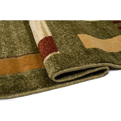 Home & Haus Sphere Green Area Rug