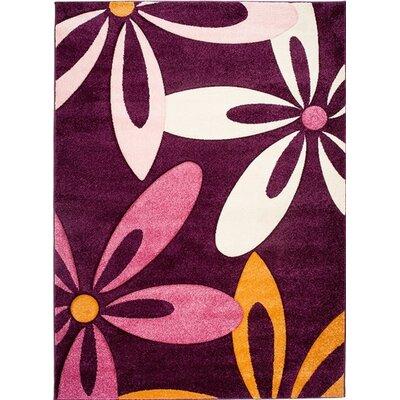 Home & Haus Apatite Dark Violet Area Rug