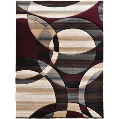 Home & Haus Spinal Burgundy Area Rug