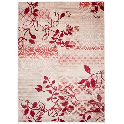 Home & Haus Sard Red Area Rug