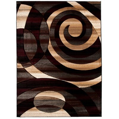 Home & Haus Spinal Black Area Rug