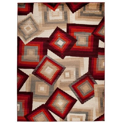 Home & Haus Spinal Red/Beige Area Rug