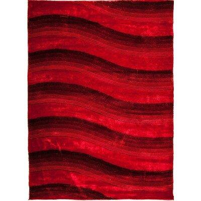 Home & Haus Zircon Red Area Rug
