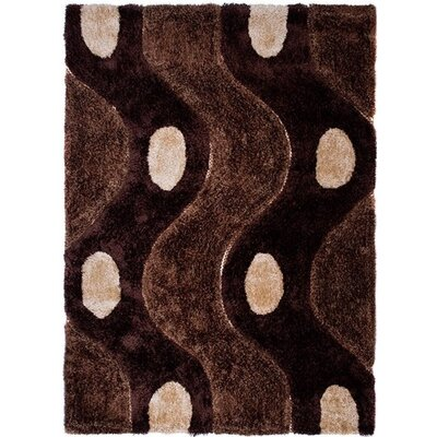 Home & Haus Zircon Brown Area Rug