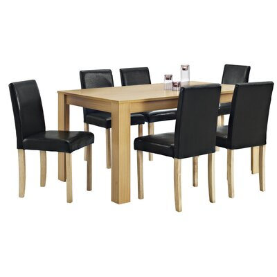 Home & Haus Addison Dining Table and 6 Chairs