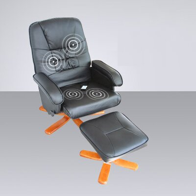 Home & Haus Reclining Massage Chair and Footstool