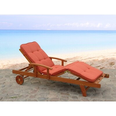 Home & Haus Adjustable Lounger with Cushion