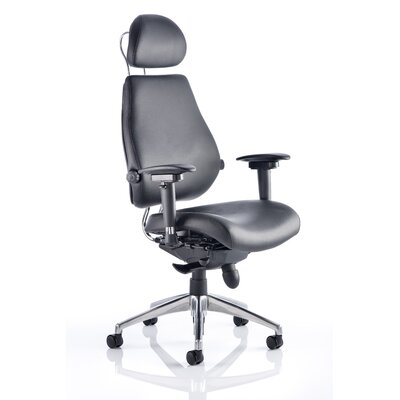 Home & Haus Asbjerg High-Back Leather Executive Chair