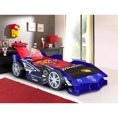 Home & Haus Formula Speedy Speed Racer Single Car Bed with Storage
