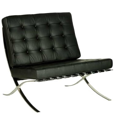 Home & Haus Weaver Genuine Leather Side Chair