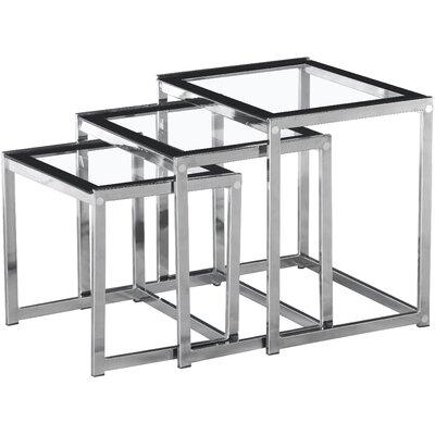 Home & Haus Hillary 3 Piece Nesting Table Set