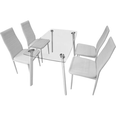 Home & Haus Ashly Dining Table and 4 Chairs