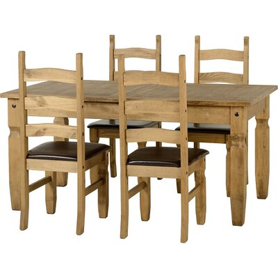Home & Haus Alisa Extendable Dining Table and 4 Chairs