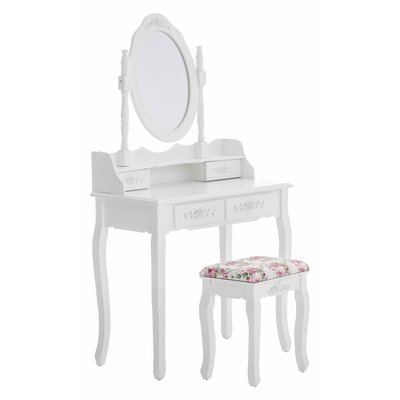 Home & Haus Zola Dressing Table with Mirror