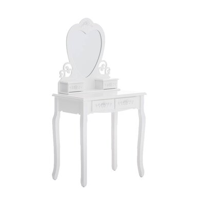 Home & Haus Romantica Dressing Table with Mirror