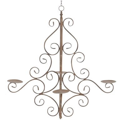 Home & Haus Apricot 4 Light Candle Chandelier