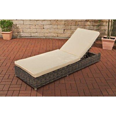 Home & Haus Bario Sun Lounger with Cushion